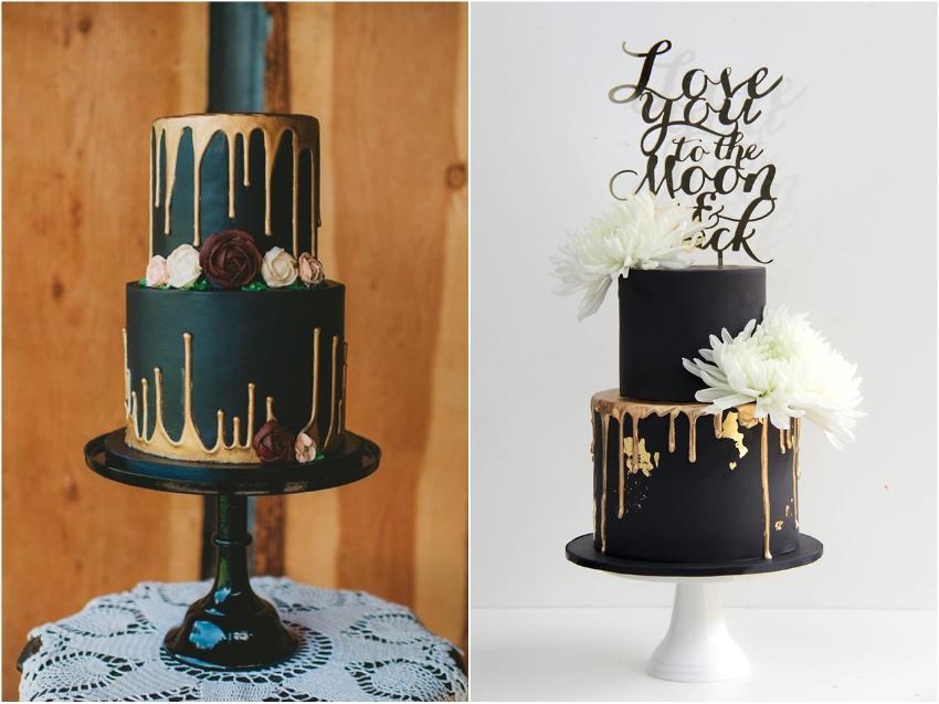Black Wedding Cakes - Satin Ice