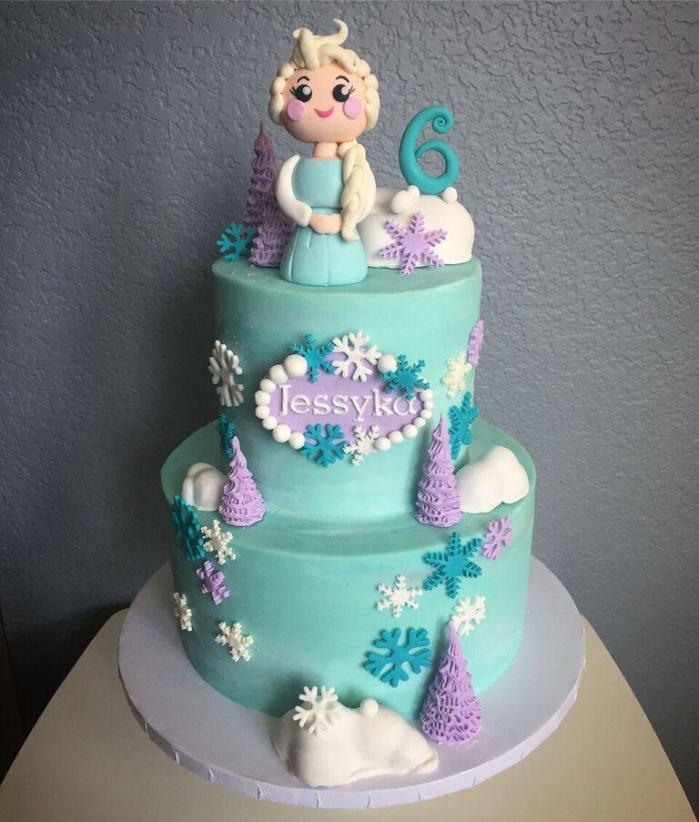 Frozen themed princess birthday
