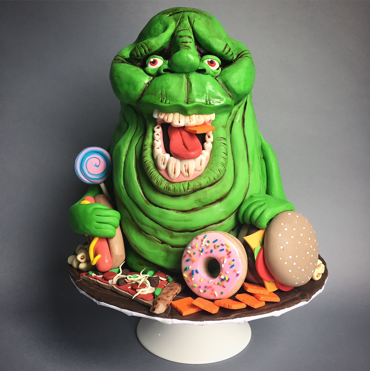 Ghost busters ghost donuts cake