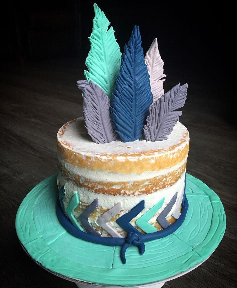 Bohemian feather birthday