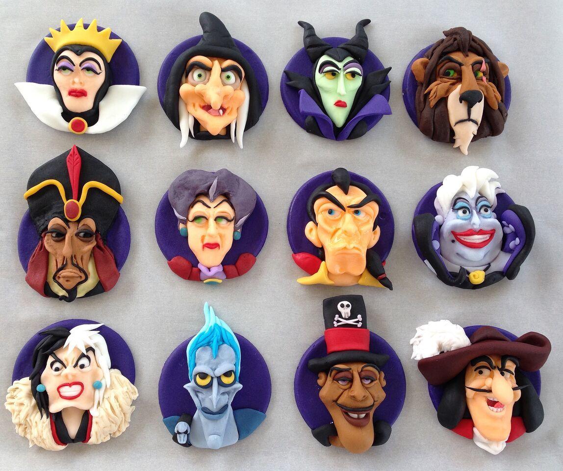 Disney villan cupcake toppers