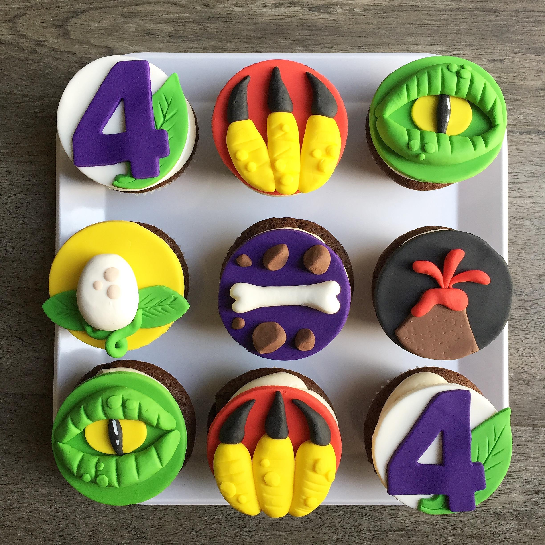 Monster birthday cupcakes