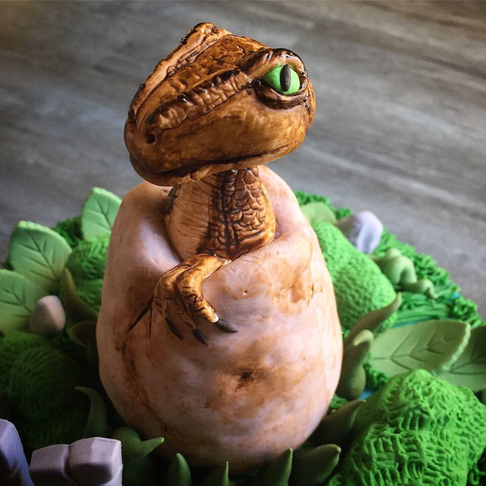 Baby dinosaur figurine