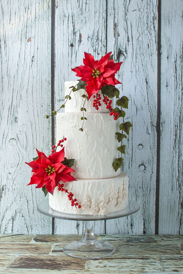 Poinsettia Cake