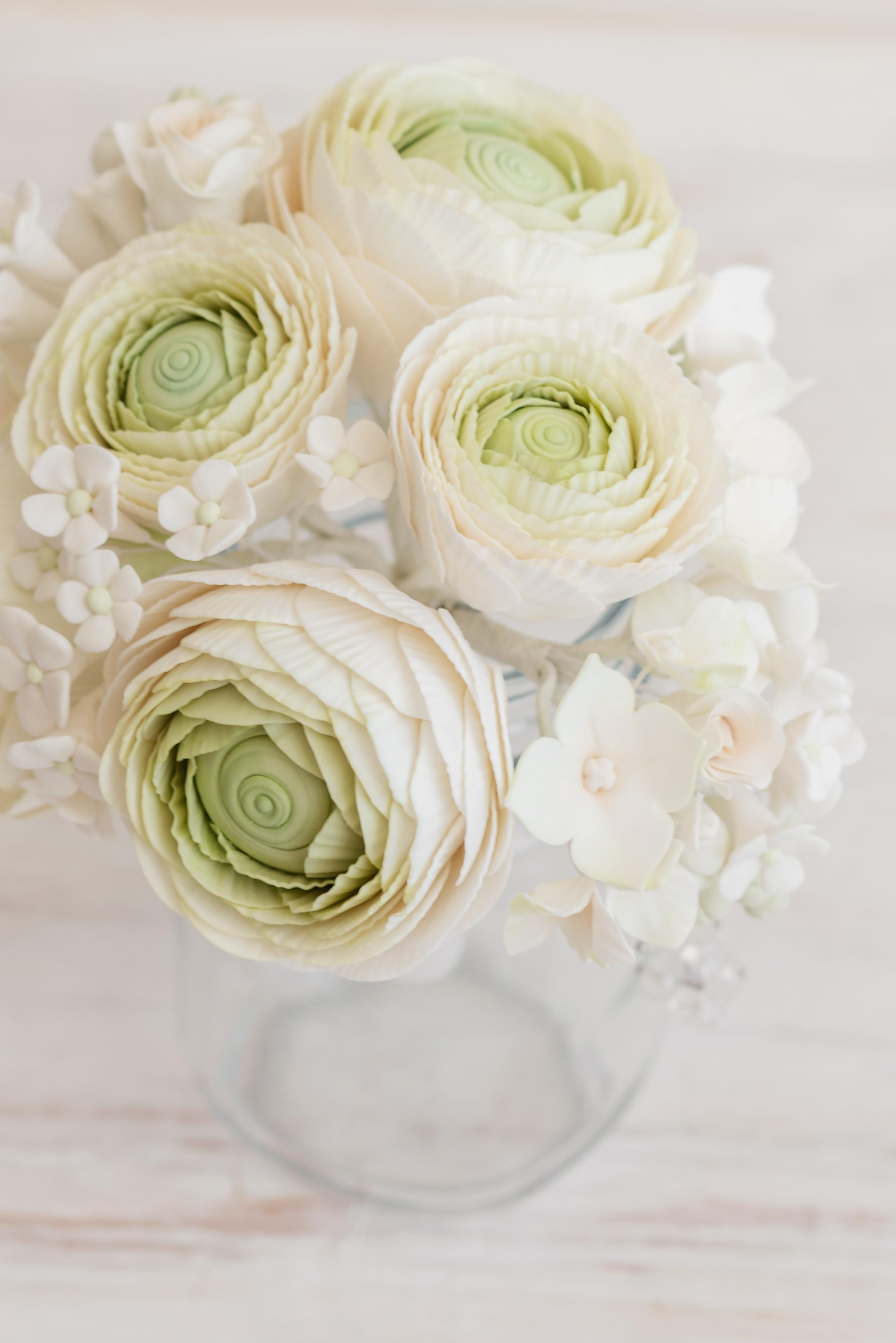 White Sugar flower Bouquet