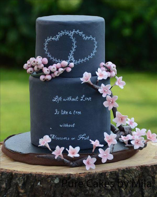 Chalkboard Cherry Blossoms