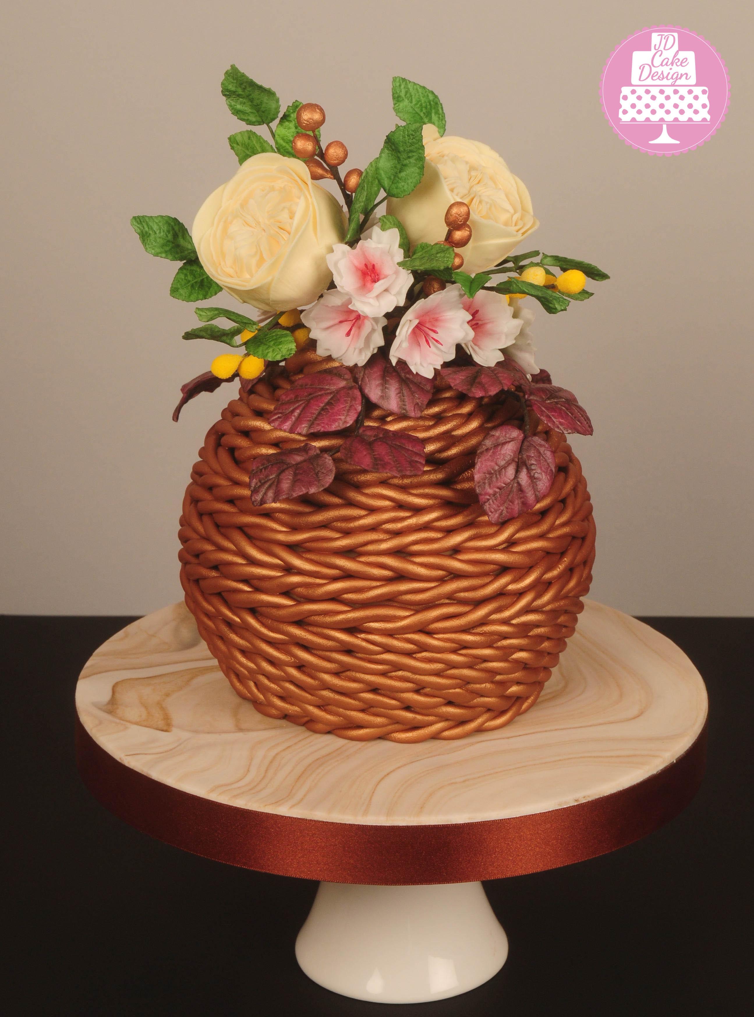 Basket of sugar flowers