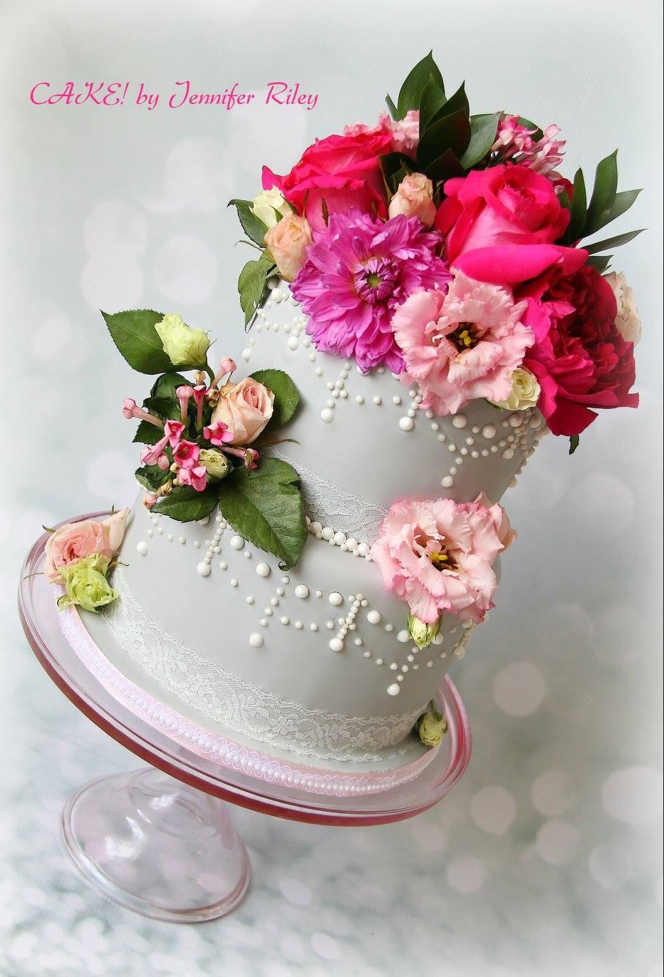 Spring Wedding Bouquet Cake