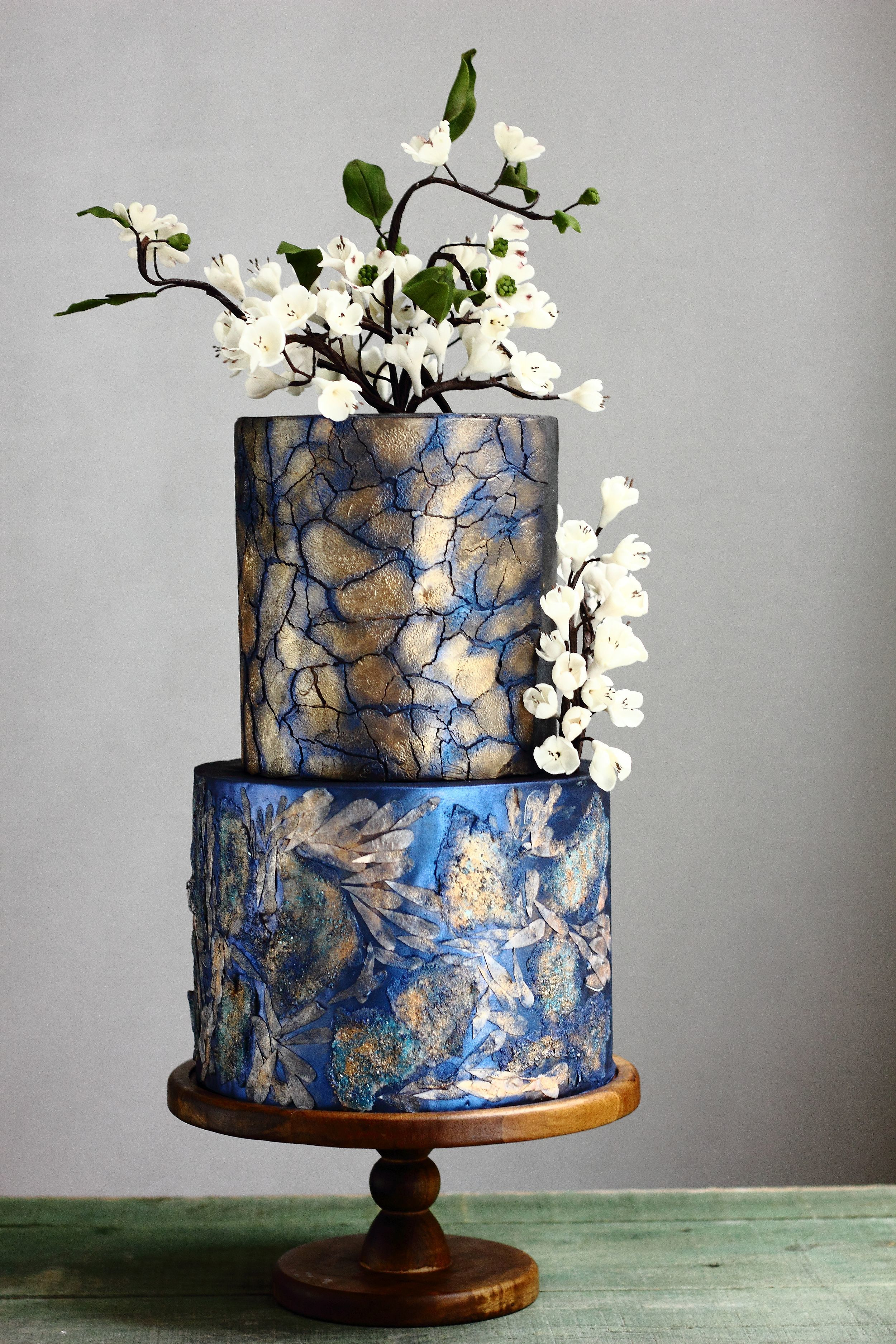 Blue chinese themed wedding