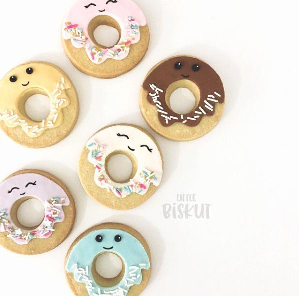Fondant donut cookies