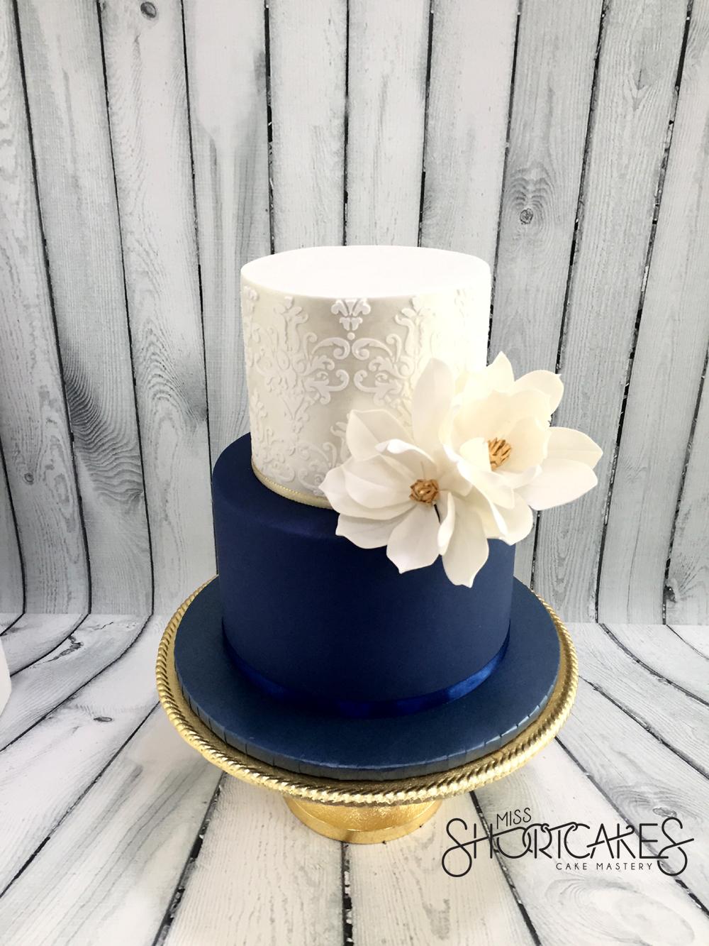 Navy Blue & Silver Wedding