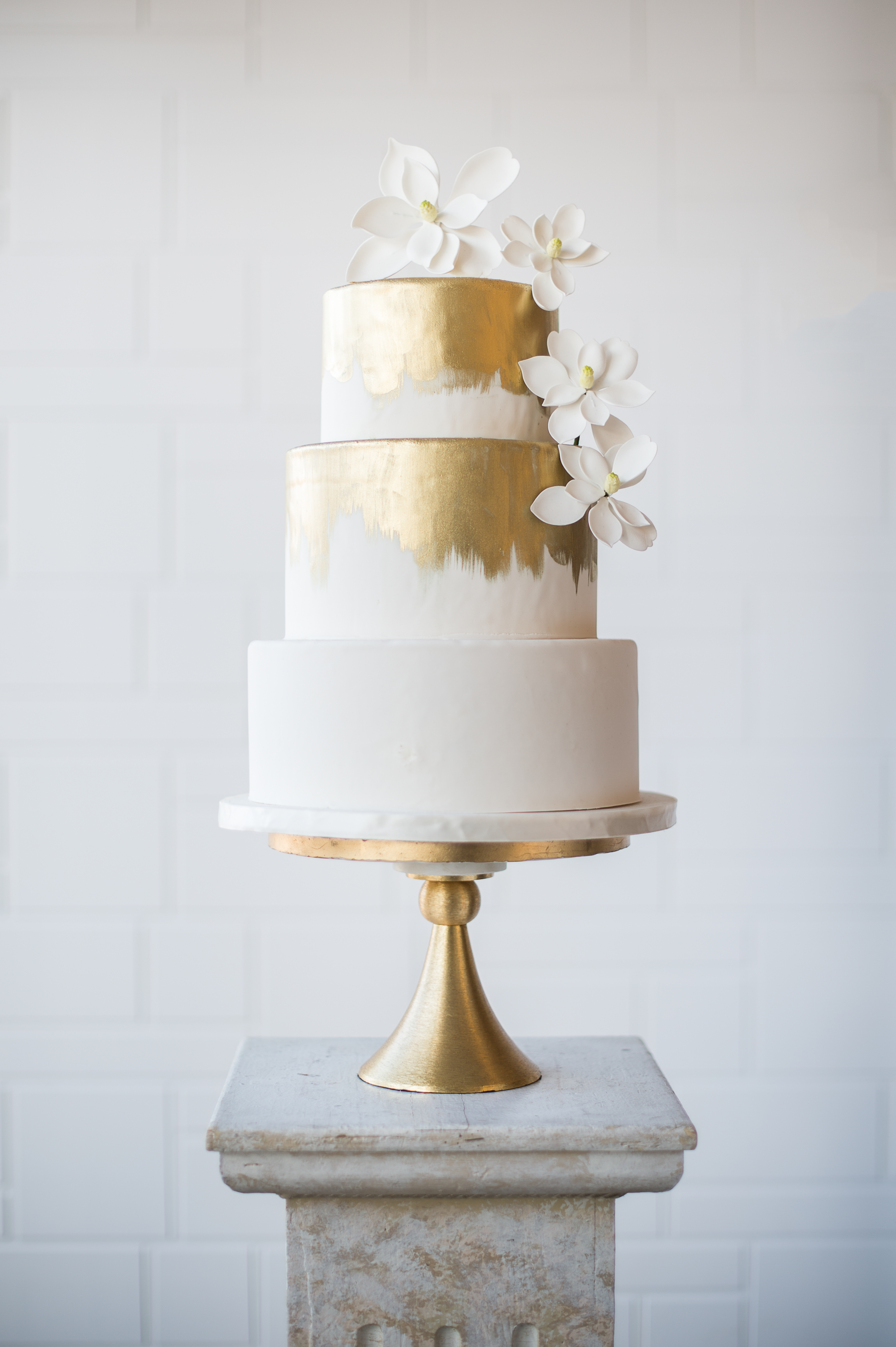 White wedding with gold