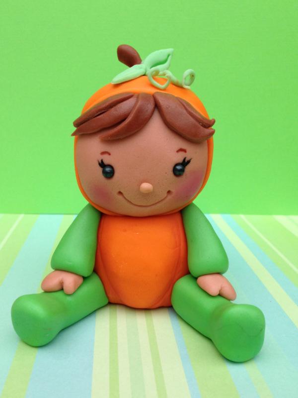 Baby Pumpkin Figurine