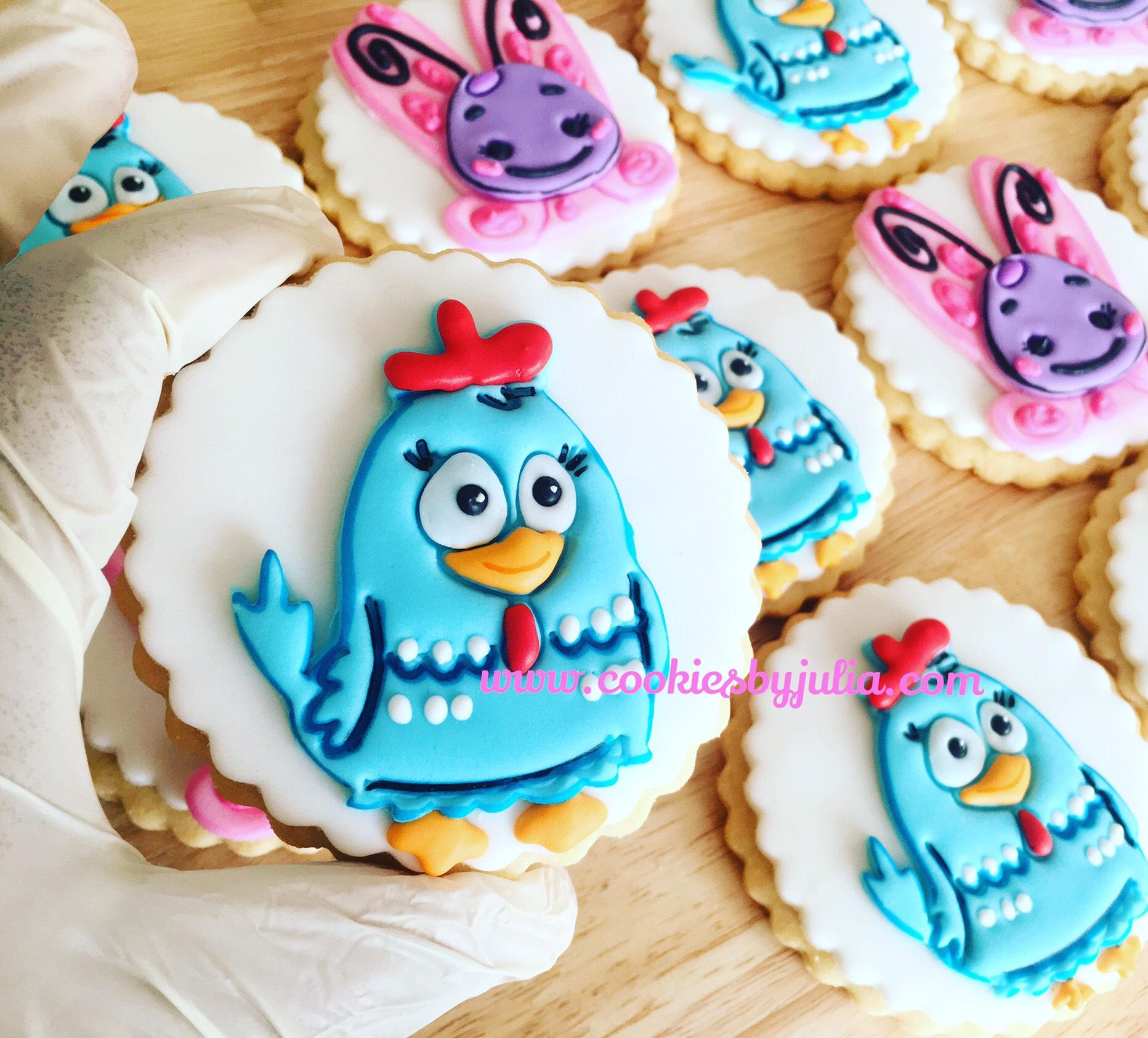 Blue bird fondant cookies