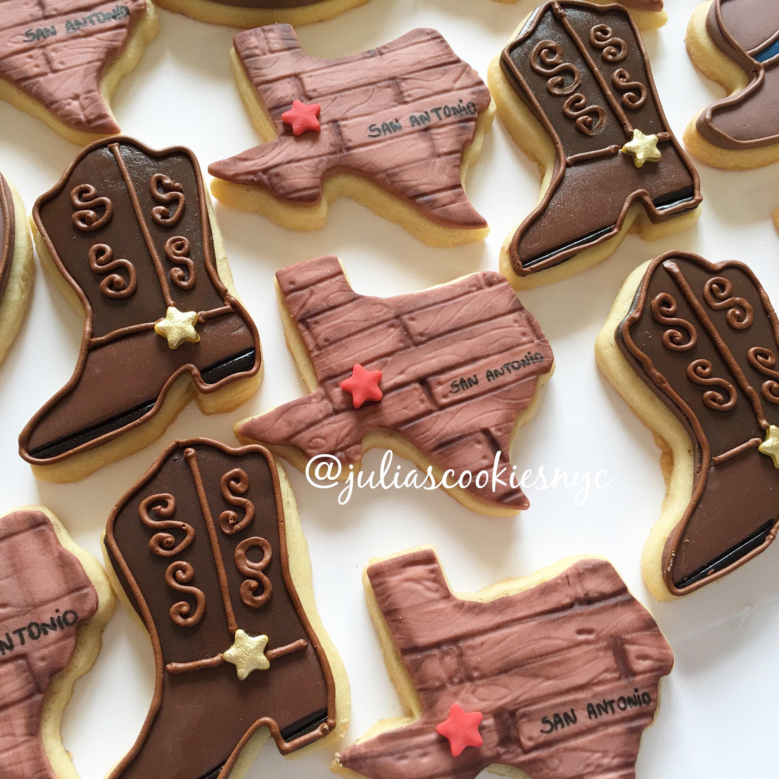 Fondant Cowboy boot cookies