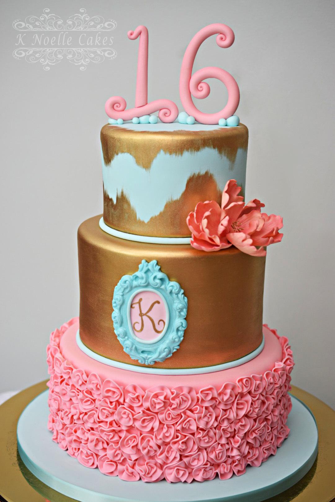Gold & Pink Sweet Sixteen