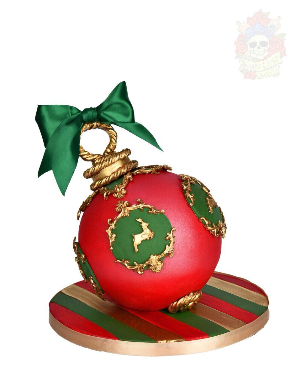 Red and green christmas ornament