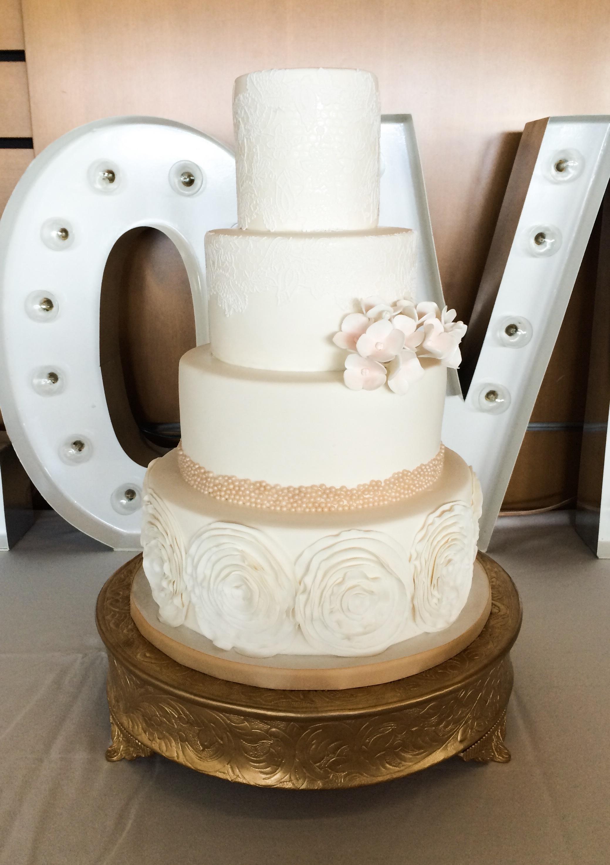Ivory Rosette wedding