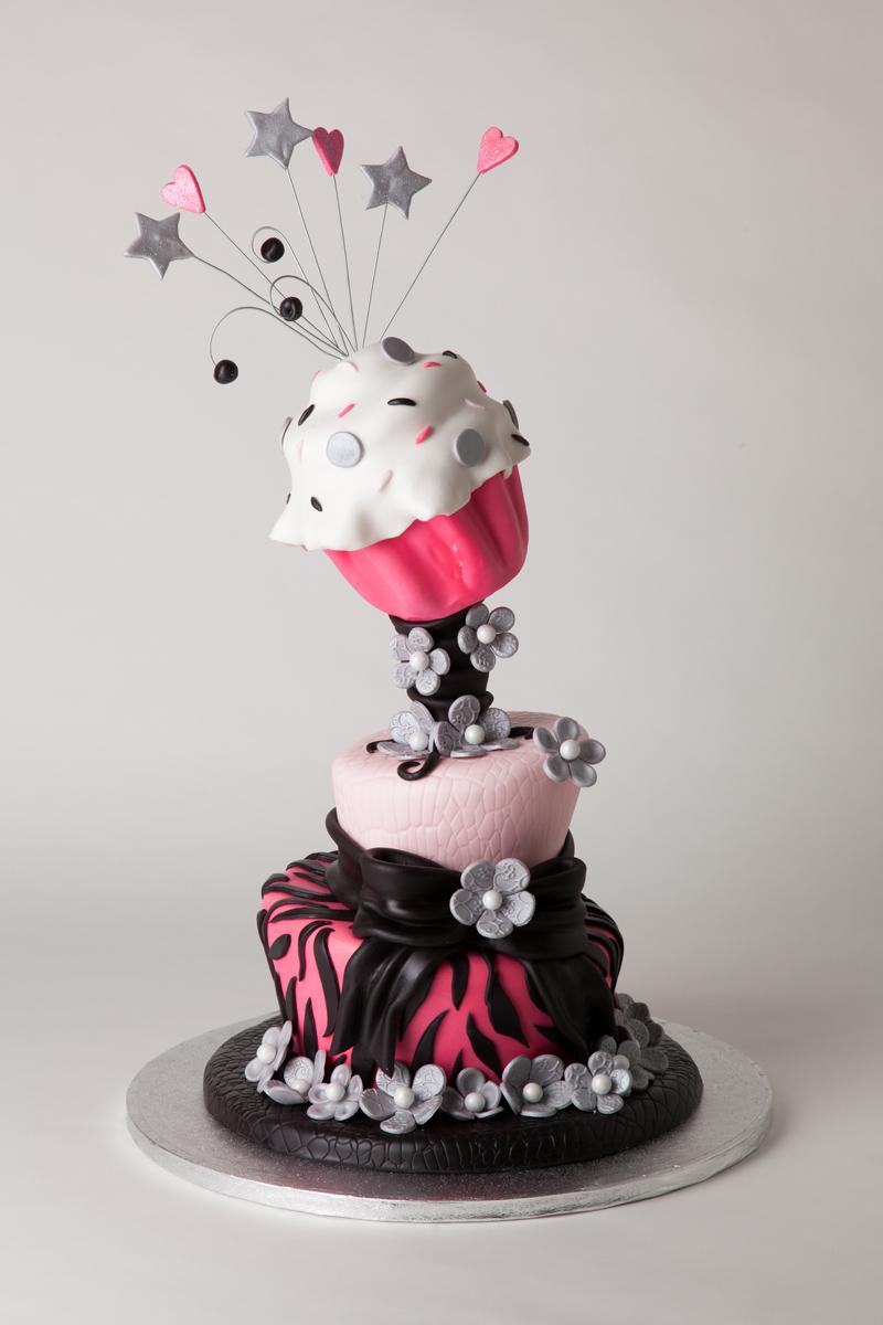 Topsy Turvy Cupcake Cake