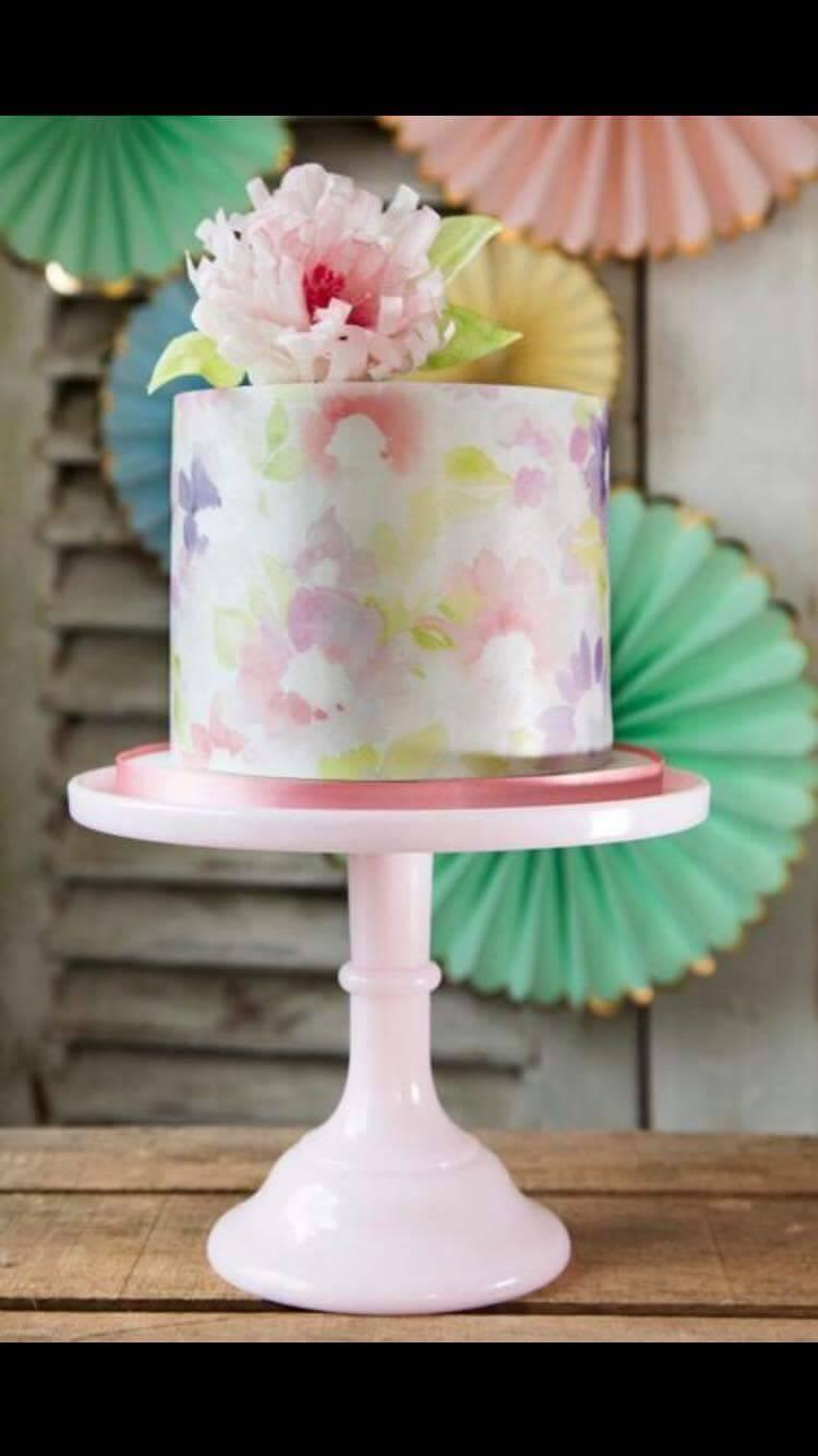 Handpainted flower mini wedding cake