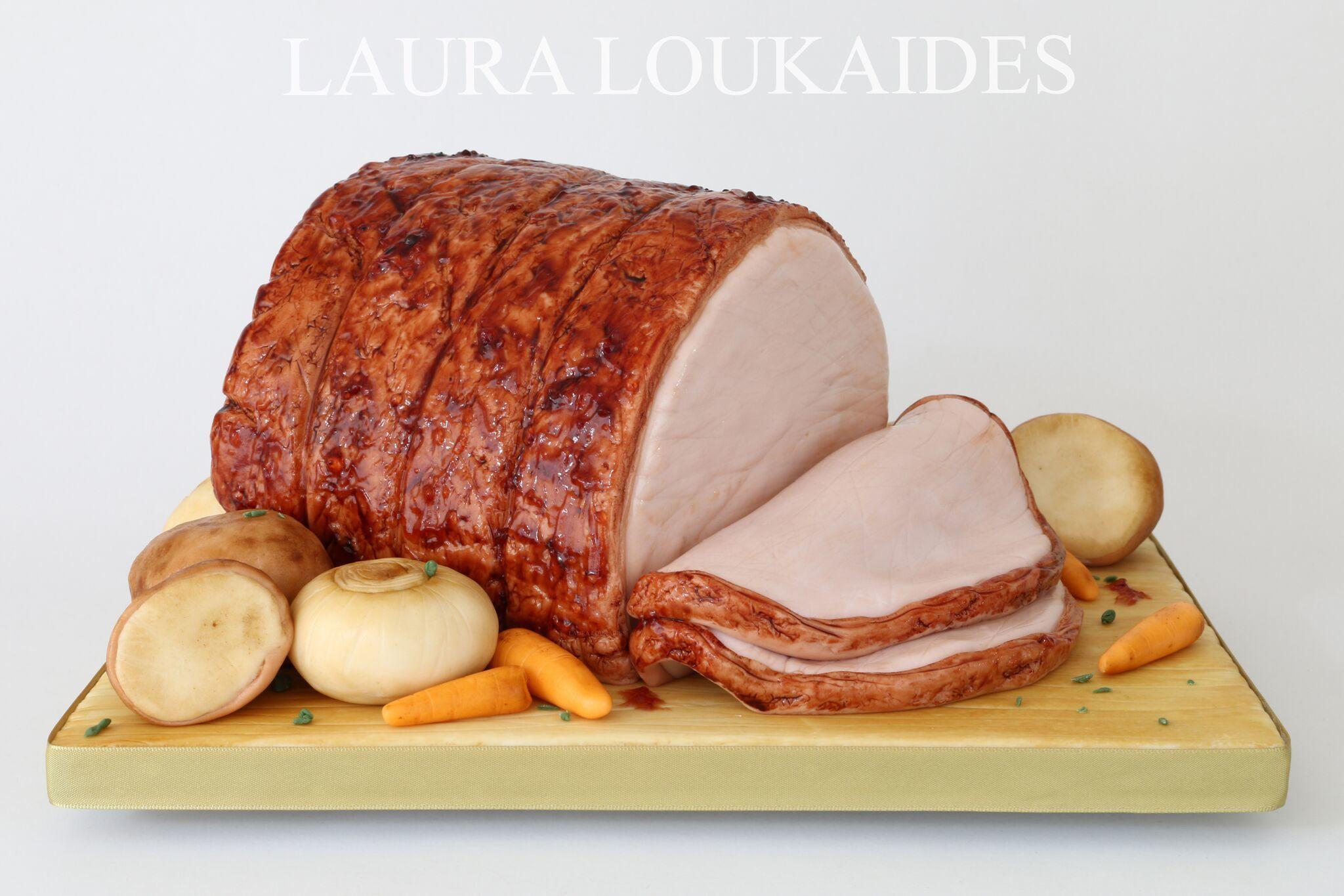 Spiral Ham and Potatoes