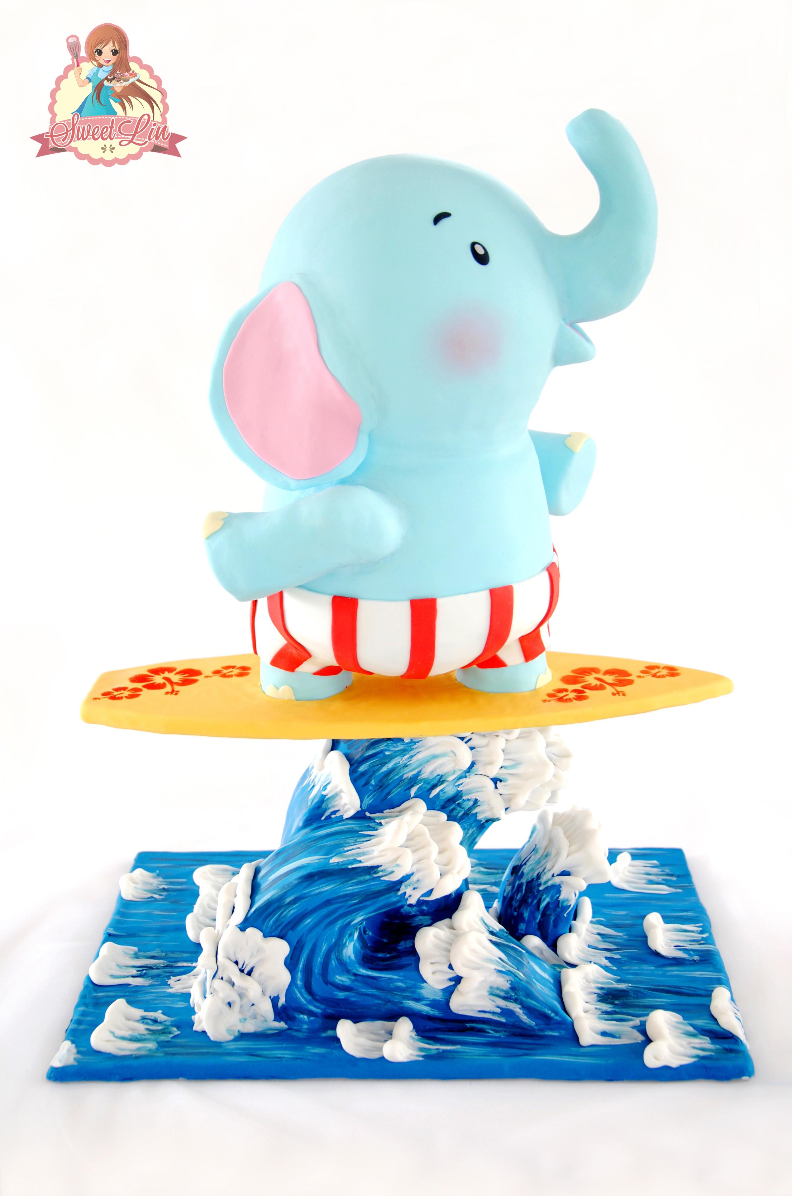 Gravity Defying Surfing Elephant