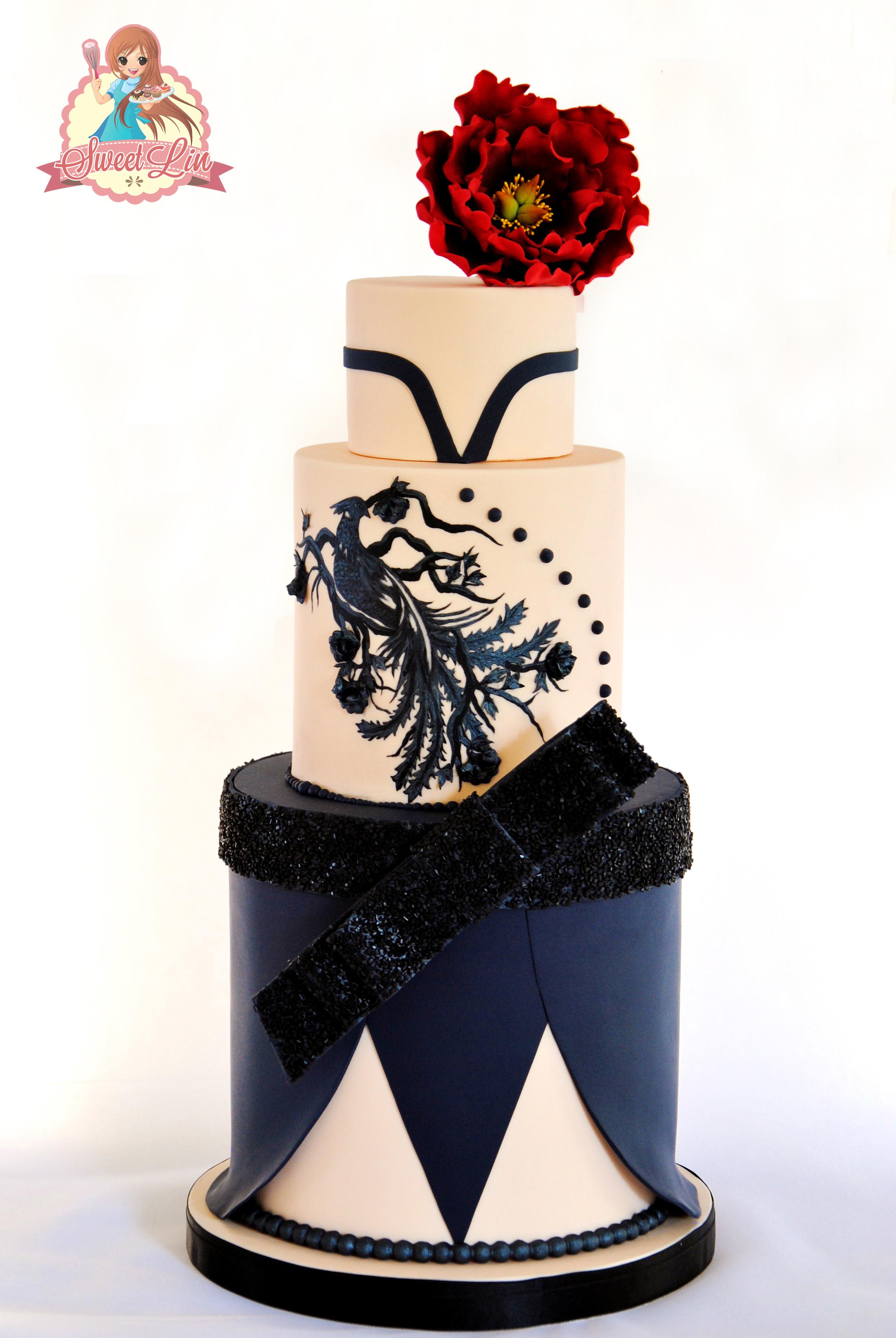 navy Blue & White Wedding