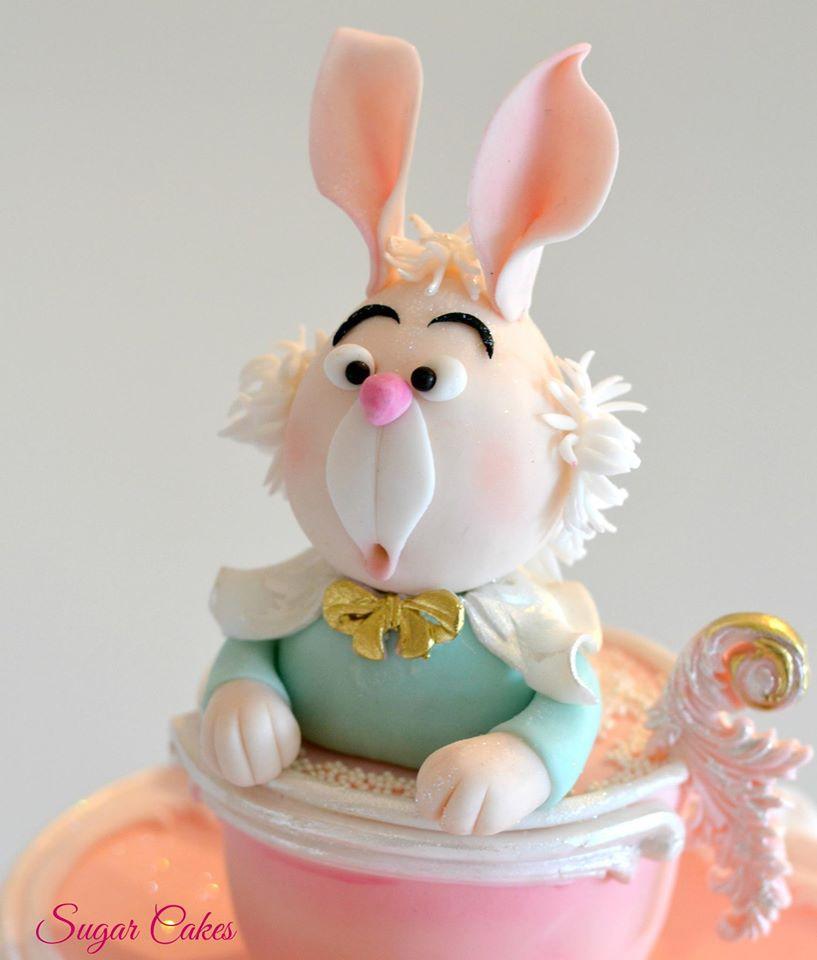 Alice in Wonderland white rabbit figurine
