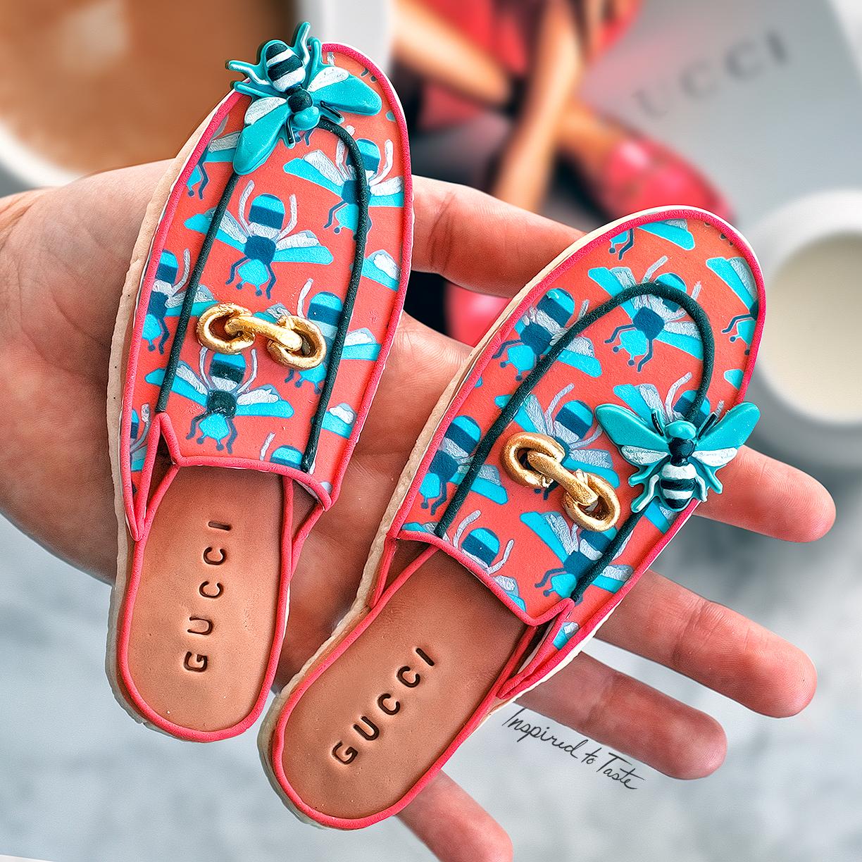Gucci shoes fondant cookies