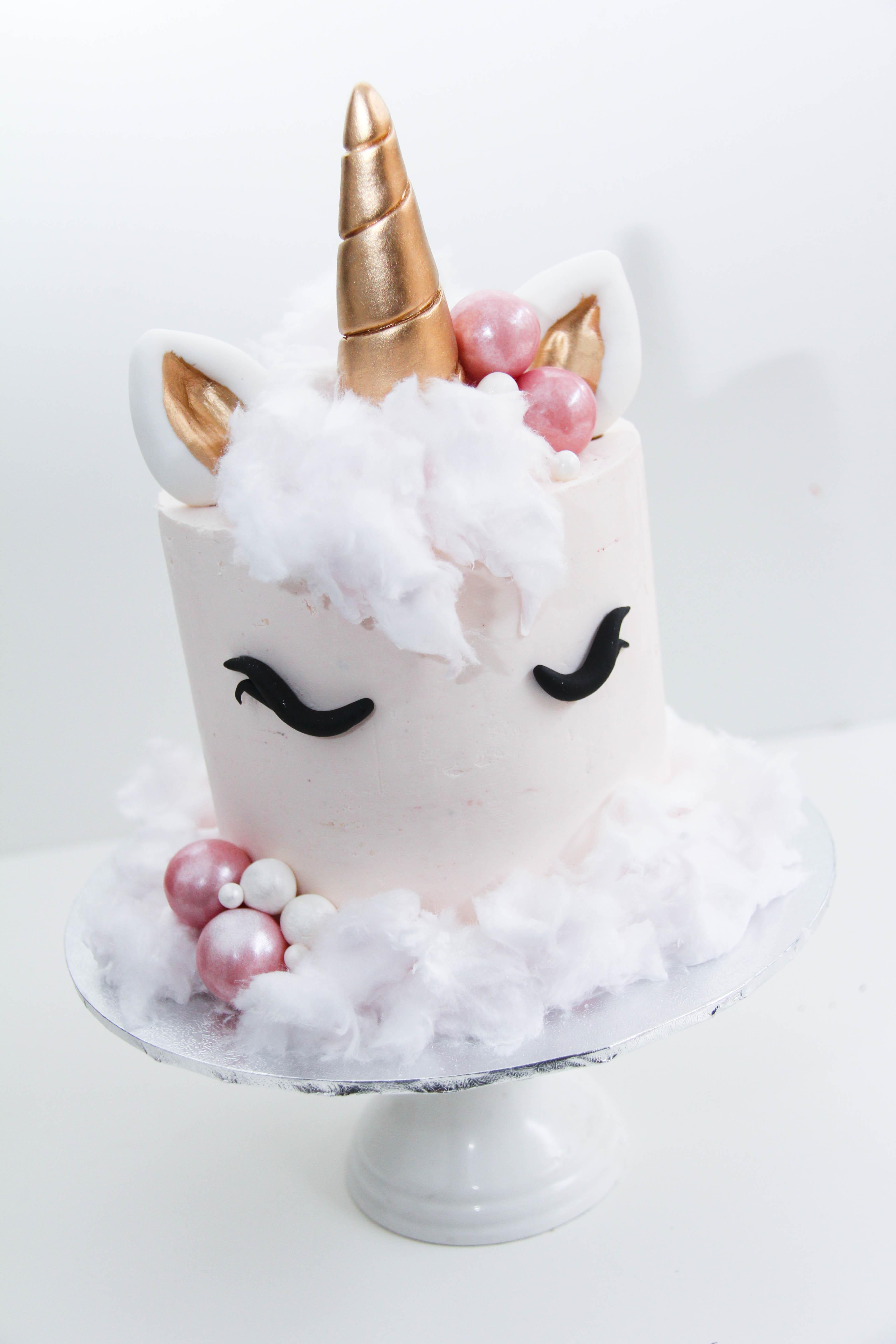 White barrel unicorn birthday
