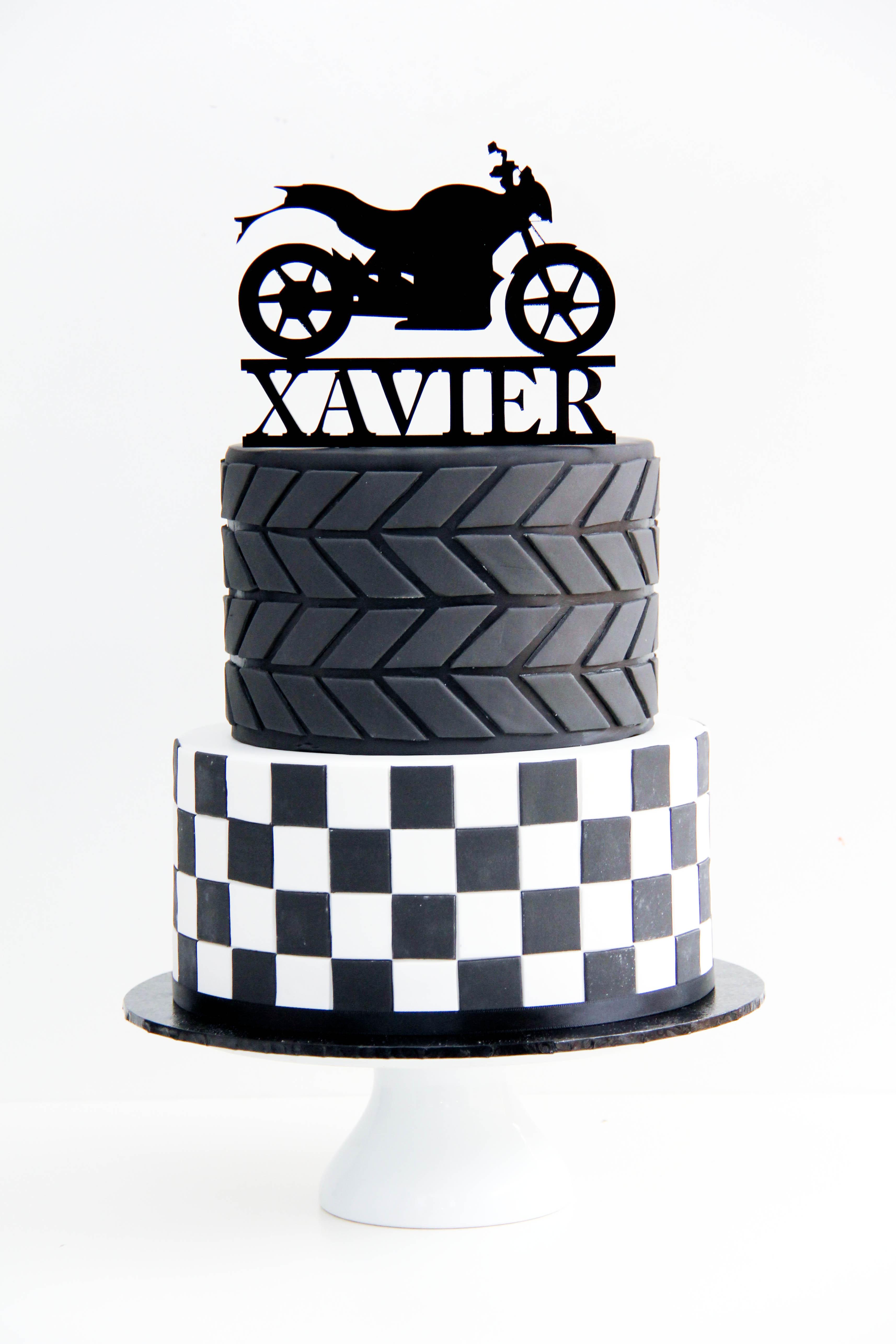 Dirt bike racing birthday boy