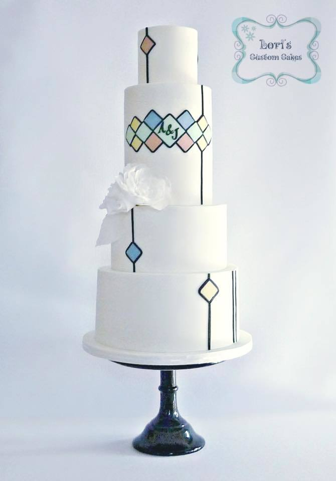 Mixed Geometric Pattern White Wedding