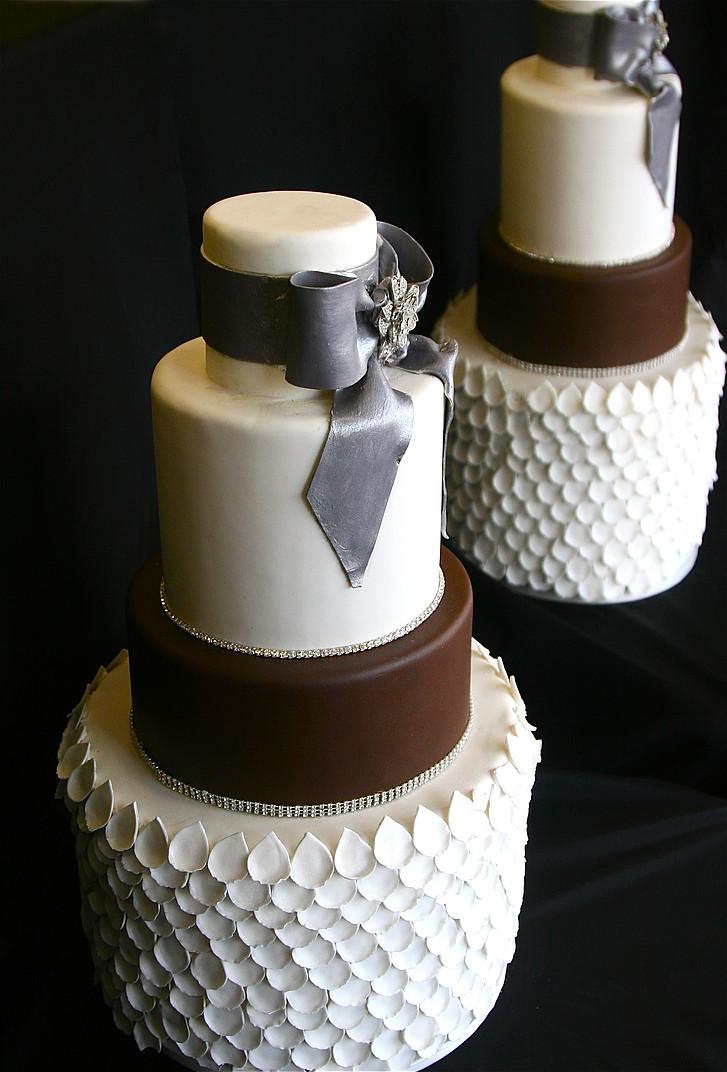 Brown & White Wedding