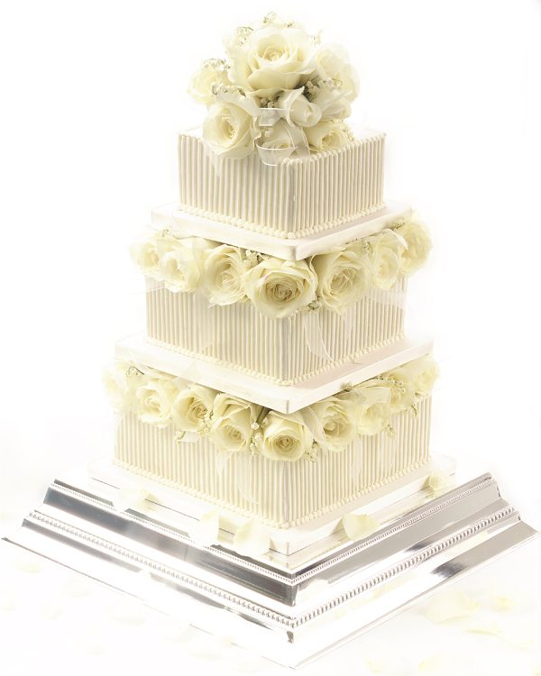 Square Tiered Wedding