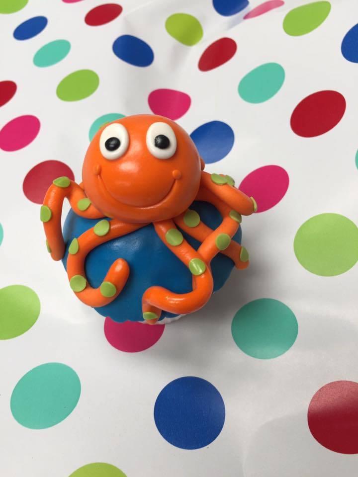 Octopus Cupcake Topper