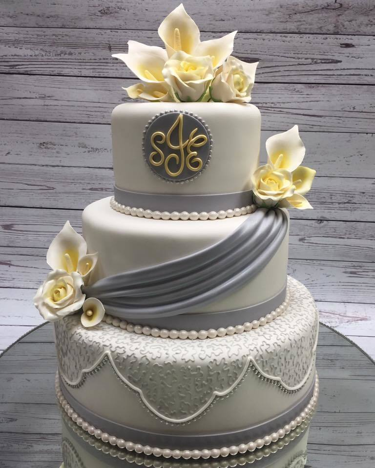 White and Gray Wedding
