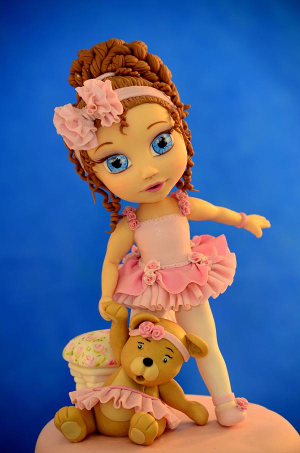 Ballerina with Teddy Bear