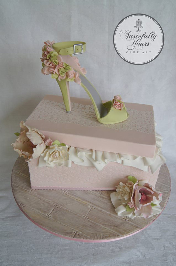 Pink Flower High Heel