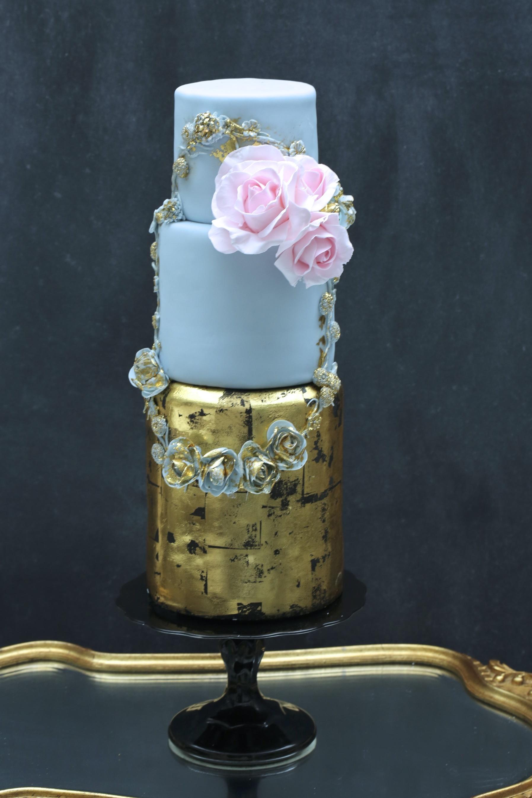 Baby Blue & gold Victorian wedding