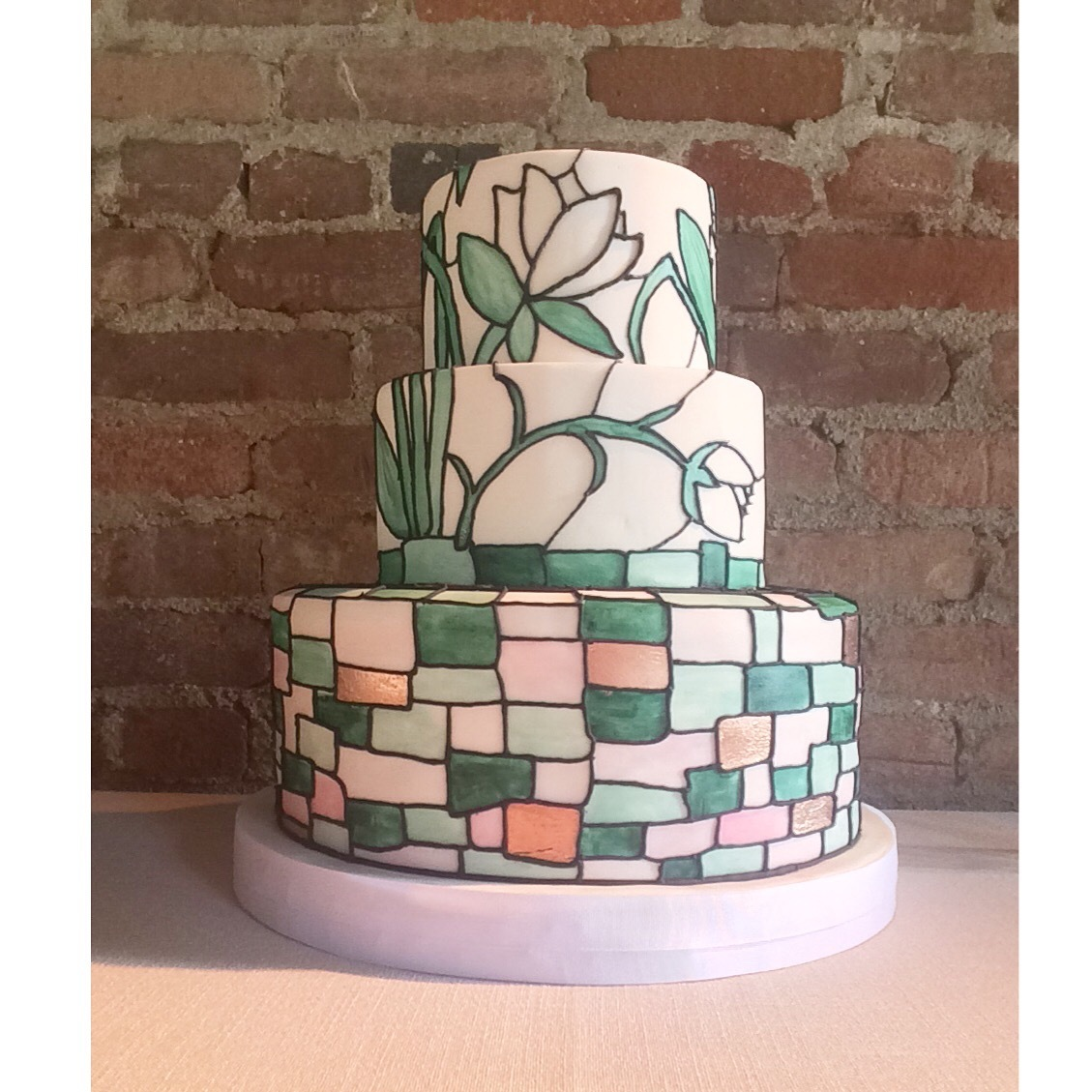 Stained Glass spring wedding