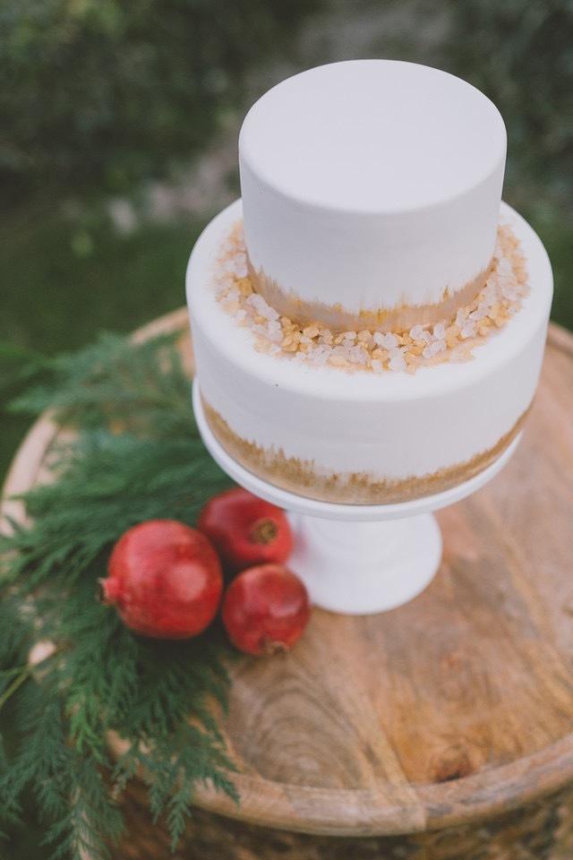 White with gold sparkle wedding