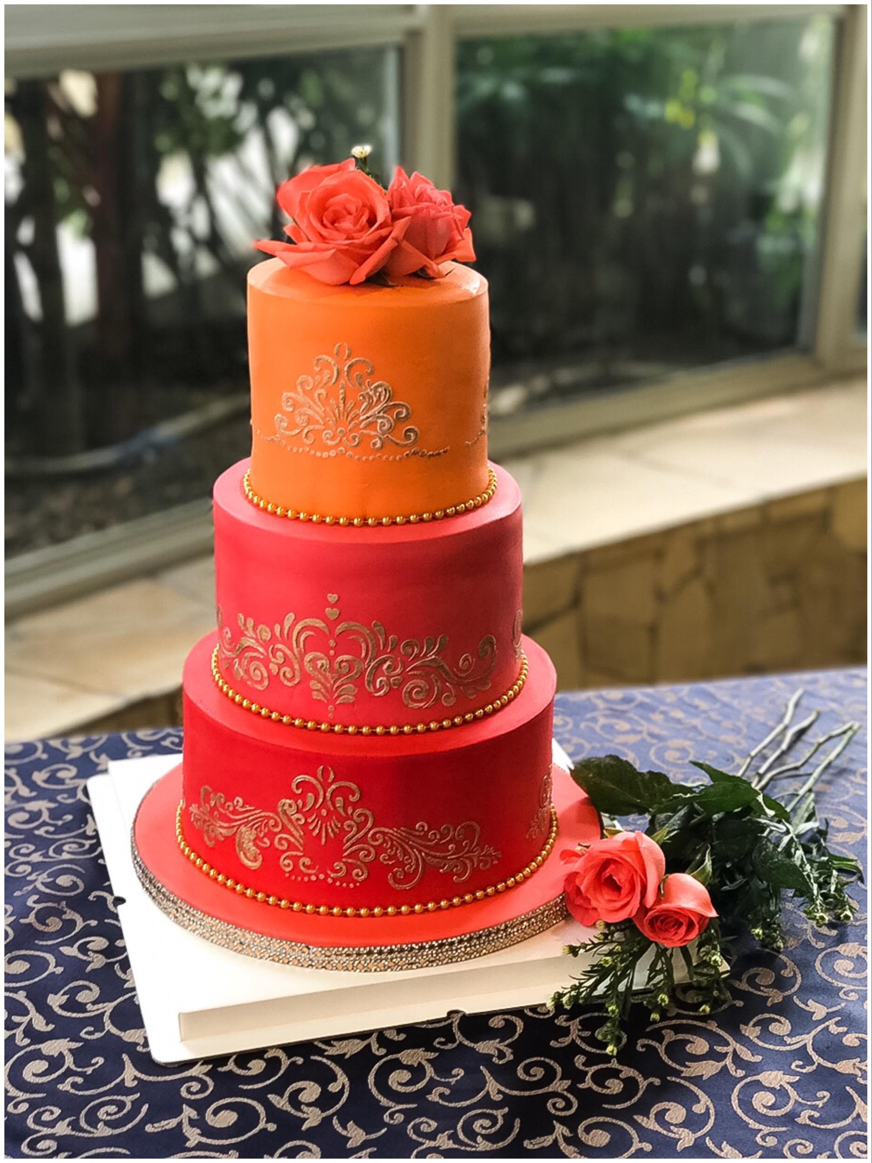 Orange and red wedding