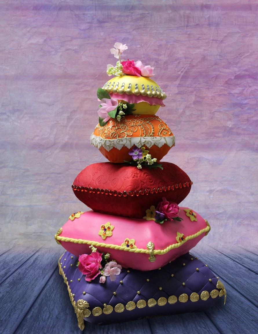 Stack of Pillows wedding cake