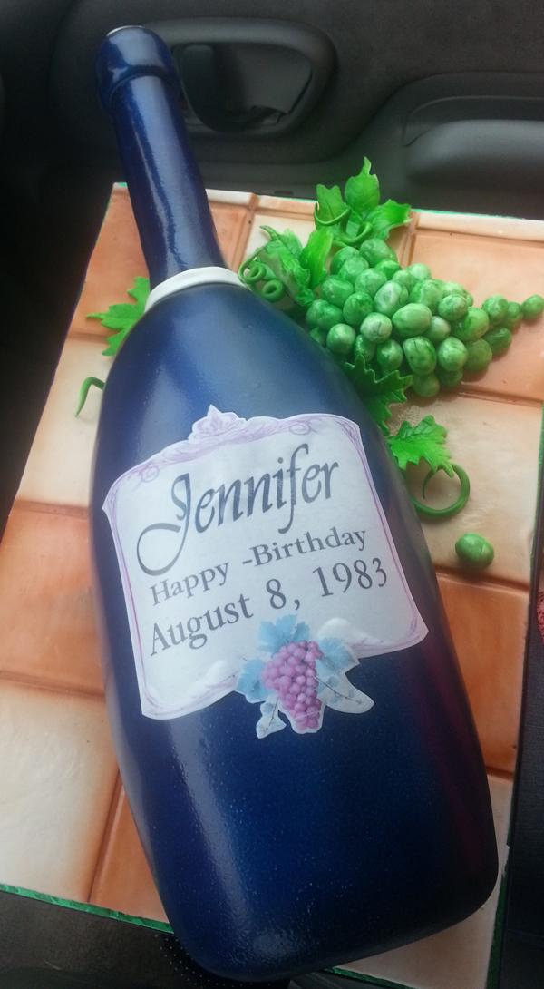 Sculpted Wine Bottle