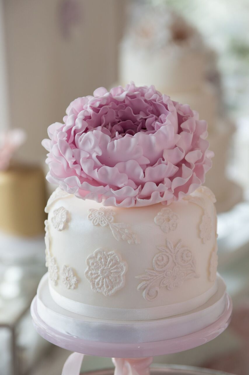 White and pink mini wedding