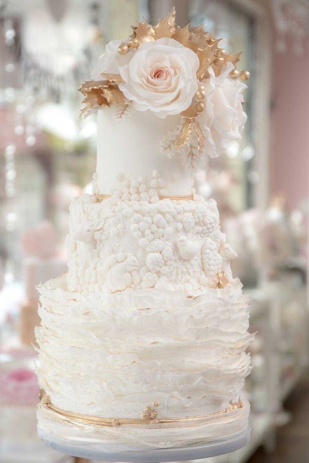 White embellished victorian wedding