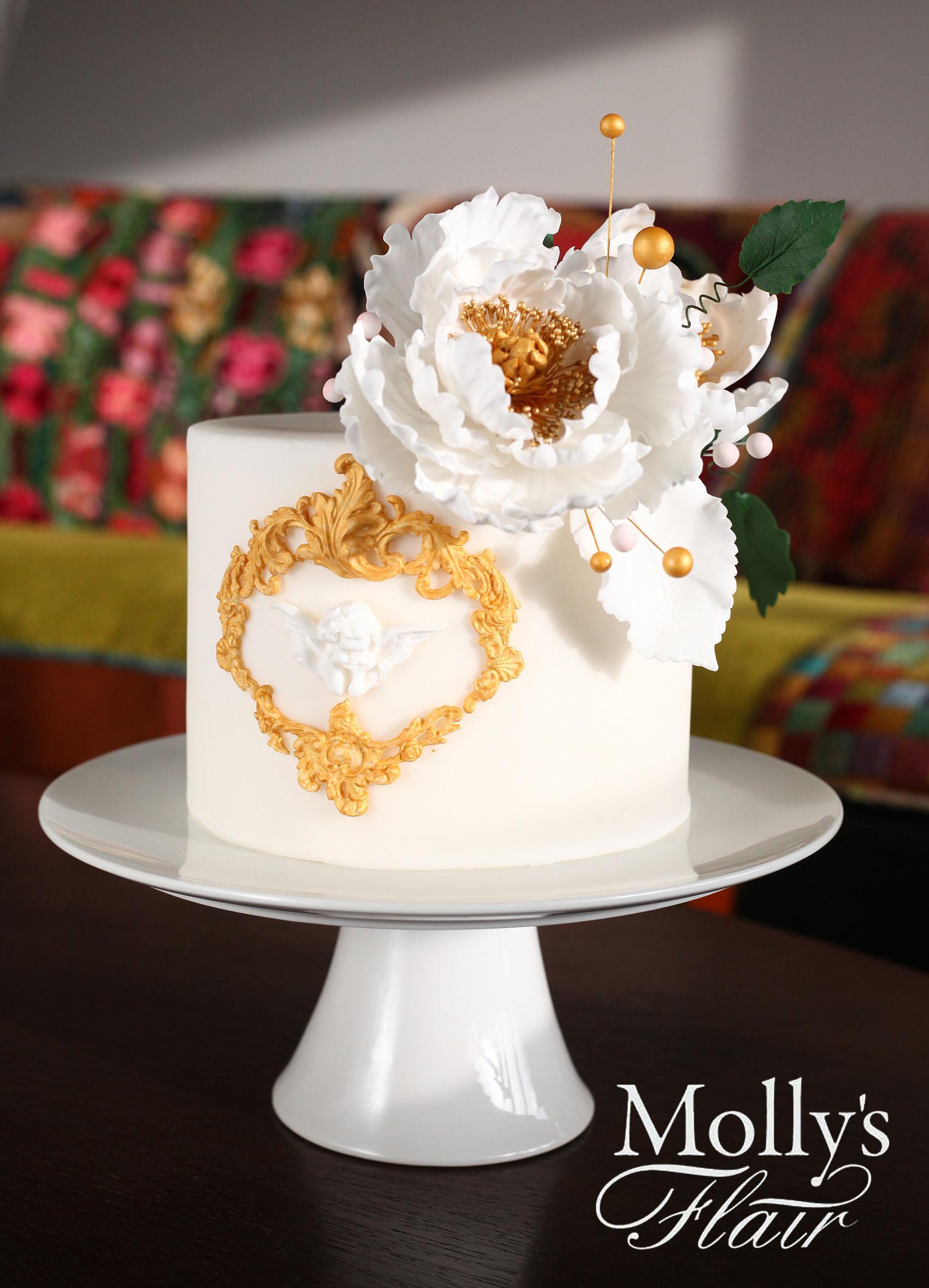 White & Gold Mini Wedding