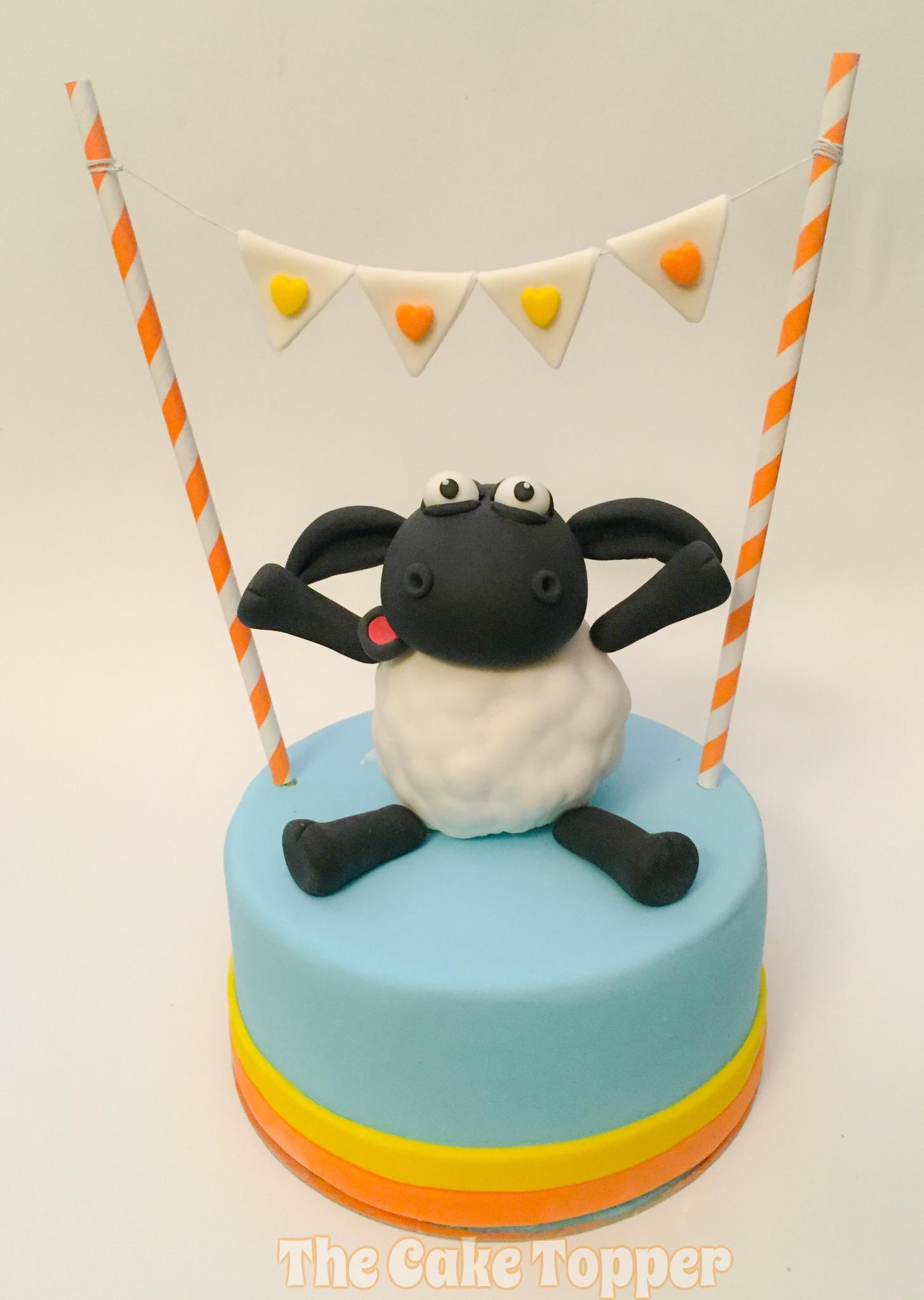Sheep topper baby cake