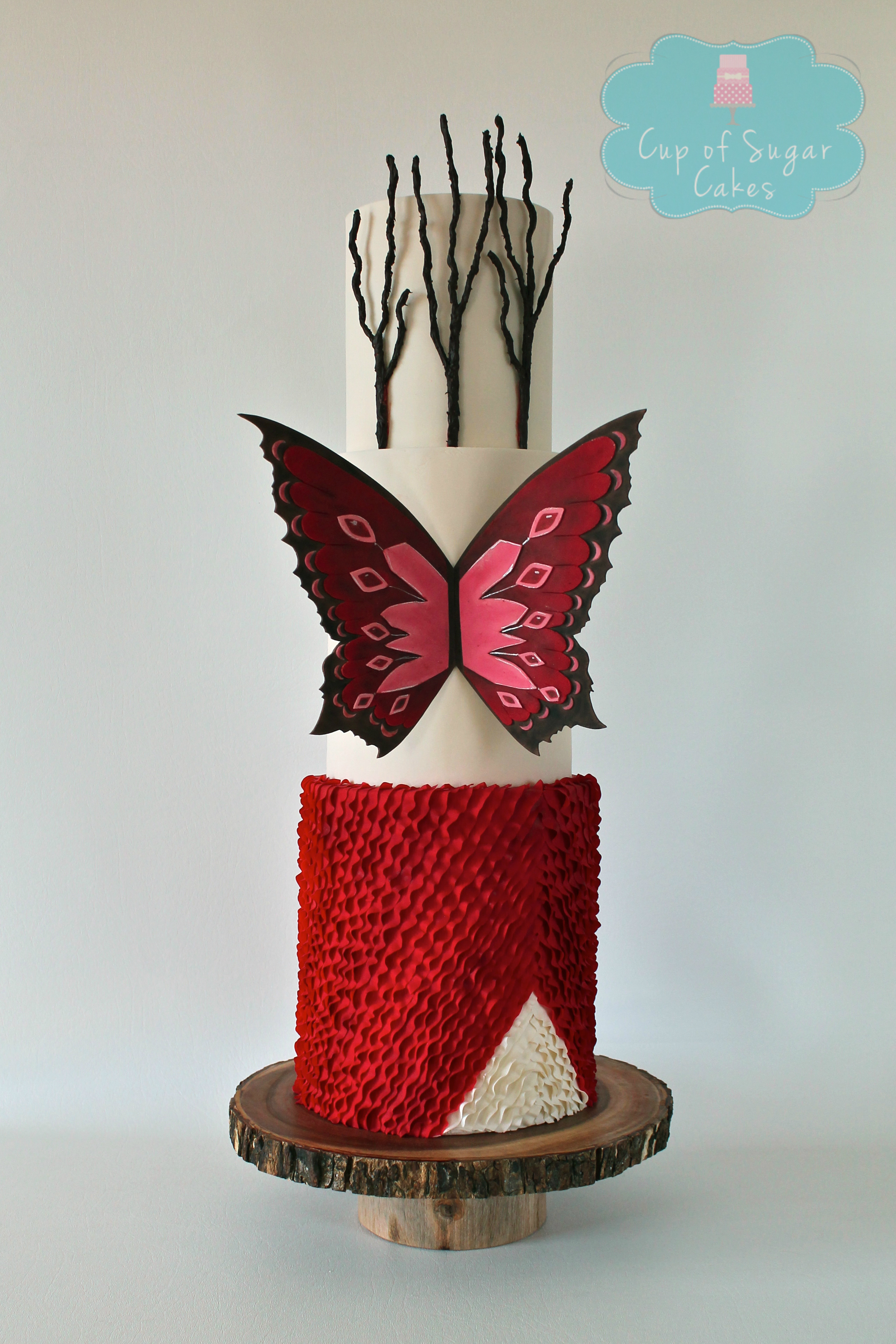 Red Butterfly Ruffle