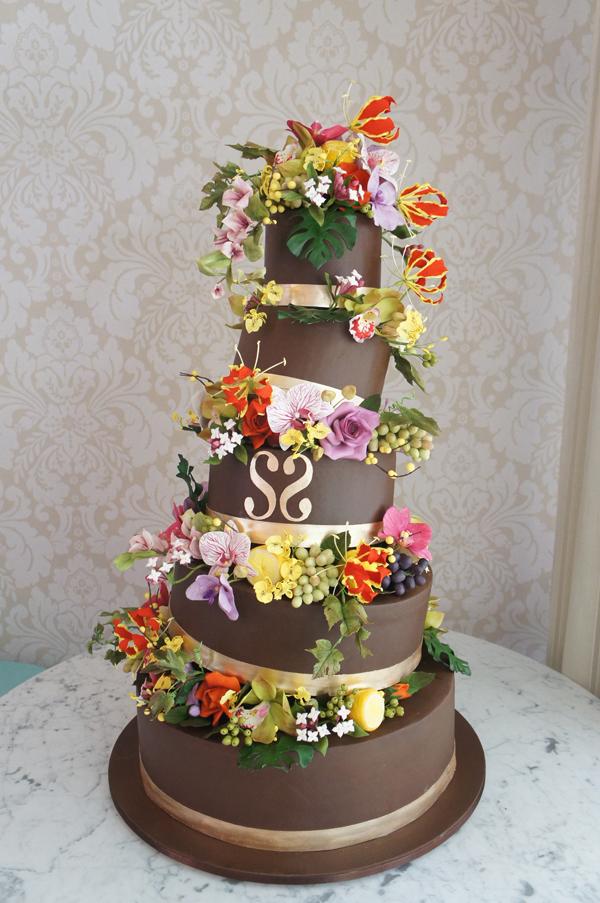 Topsy Turvy Chocolate Wedding